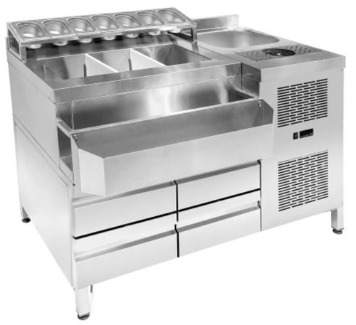 REFRIGERATED COCKTAIL STATION KONTEX BARST 134Μ